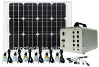 40W home Solar Lighting system with DC 12V and USB 5V Output