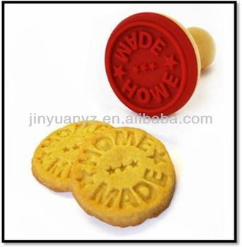 The new fashion style wood handle silicone stamp