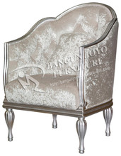 neoclassic arm chair with upholstered