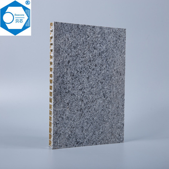 Building material construction of aluminum honeycomb panel