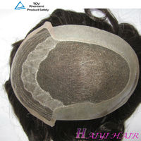 Undetectable men human hair wig