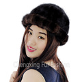 CX-C-197E China Suppliers Women's Fashionable Real Mink Fur Cap Hats