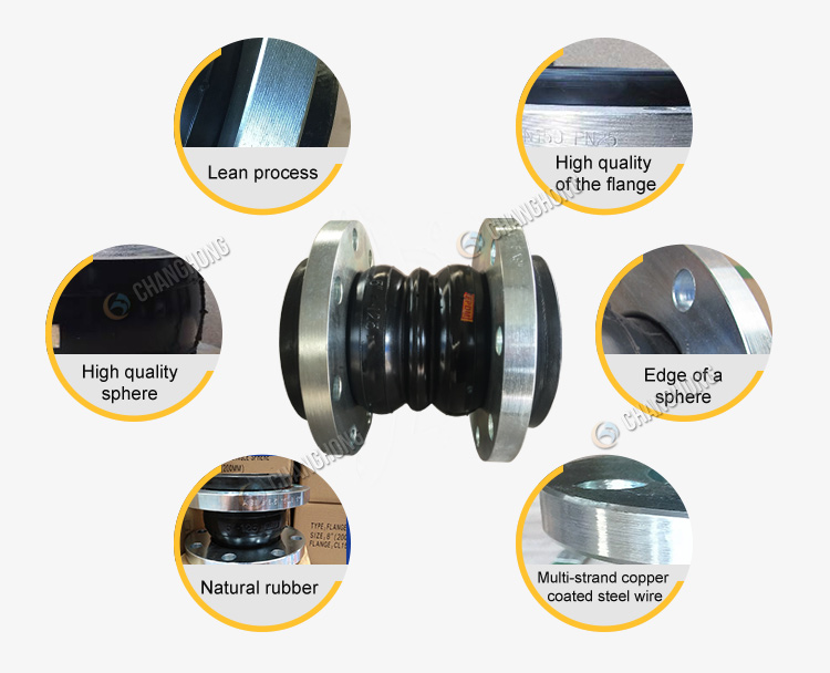 2017 PN40 neoprene two sphere rubber expansion joint india