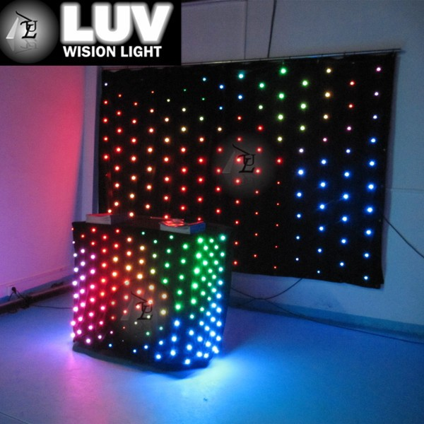 High Pixel LED video curtain/ Wedding&Night Club Party Lighting DJ Stage Equipment
