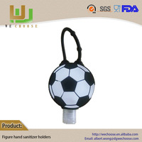Wholesale cool souvenir gifts soccer silicone hand sanitizer gel holder