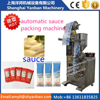 Vertical and automatic viscous liquid pouch packing machine