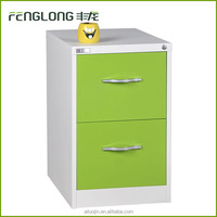 Metal office furniture 2 drawer colorful steel hanging file cabinet