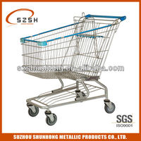 American style metal rugged shopping cart/ trolleys/buggy/carriage 180L