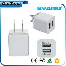 Cell Phone Accessories Automatic Mobile Phone Charger With US Plug USB Mobile Charger Adapter