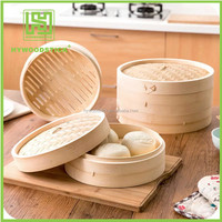 Different Size Healthy Natural Bamboo Food Steamer Wholesale