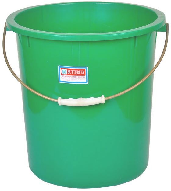 PLASTIC WATER BUCKET, WASH PAIL, FLEXIBLE LAUNDRY BUCKET WITH HANDLE 206Z