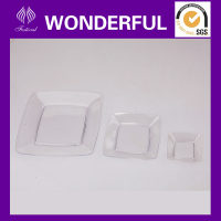 Elegant clear plastic cake plates for wedding