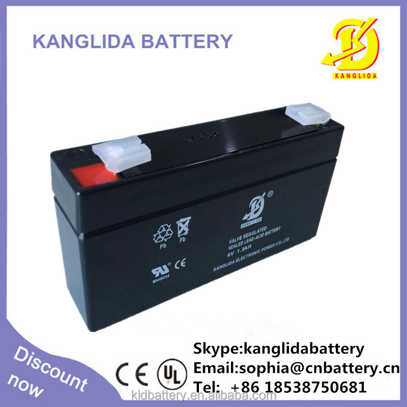 shenzhen battery 6v1.3ah sealed lead acid battery rechargeable for battery powered toy boat