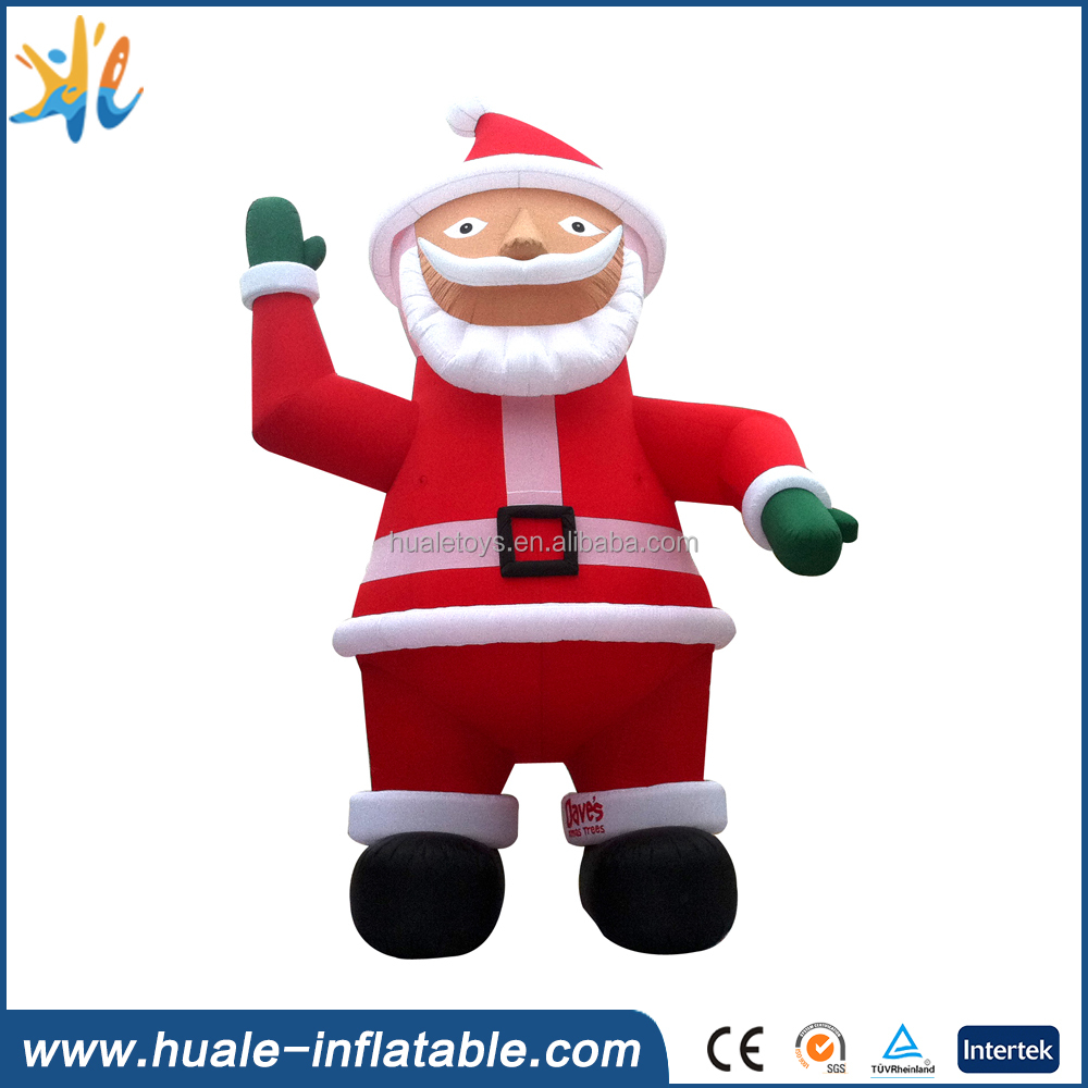 Factory pvc Christmas inflatable large santa claus with high quality