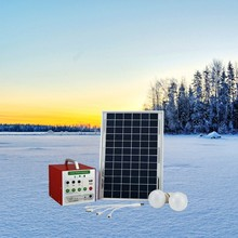 Portable Solar Energy System with 12V 3W LED Light and 5Ah Battery