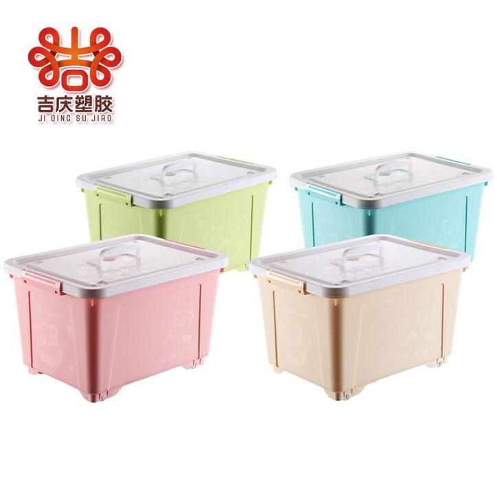 Plastic Not Transparent Storage Boxes Container With Sliding Lid