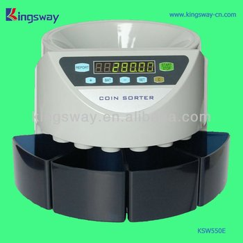 Electronic & Industrial Coin Counter KSW550E With LCD Display