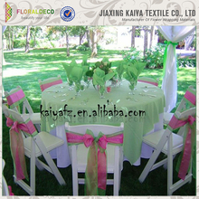 Super quality cheap colorful soft organza chair bows