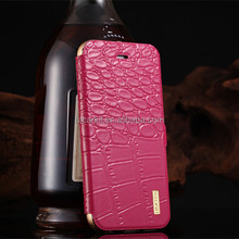 For iphone6 genuine leather case/aircraft aluminum bumper for iphone6 plus cover case/mobile phone case for iphone6 cover