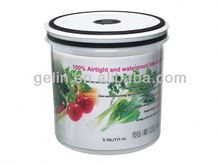 Airtight and waterproof micro round food container