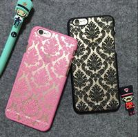 Classic lace pattern cell phone smart phone case for iphone 5 5s 6 6s plus 7 7plus
