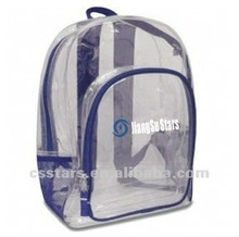 17 inch blue classic clear u0026 mesh backpack