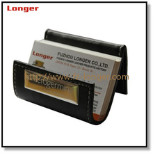 Fashion foldable pu leather namecard credit card holder