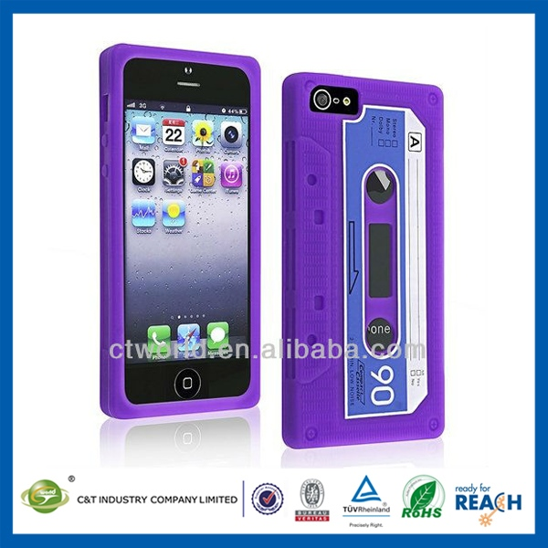 2014 Top Style panda silicon case for iphone 5
