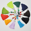 Wholesale colorful customized decoration cheap tassel keychains for girls