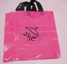 100% Eco-friendly Biodegradable HDPE/LDPE Soft Shopping Carrying Flexi Loop Plastic Handle Bag