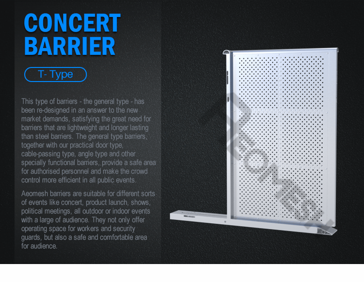 AEOBARRIER T shape type Concert Barrier