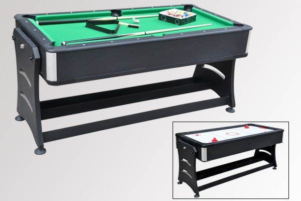 reversible 2 in 1 pool table and air hockey table buy rotating multi game table 3 in 1 pool. Black Bedroom Furniture Sets. Home Design Ideas