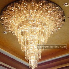 Hotel item type and wedding occasion modern decoration large chandelier