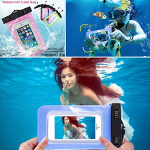 Wholesale Waterproof Underwater Mobile Phone Case Bag Pouch for iPhone 4s to 6s plus for Samsung s4 to s7 for Huawei for Xiaomi