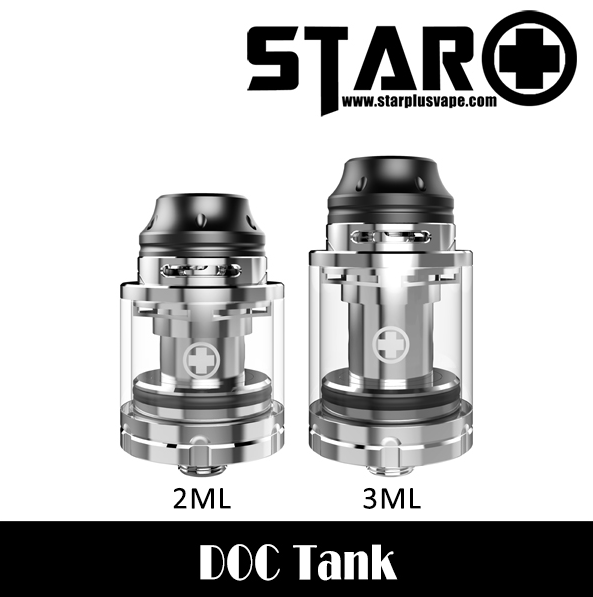 2017 vape wholesale hot selling Star DOC tank, Silver velvet cloud rda atomizer