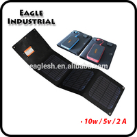 10W USB DC output Portable and foldable solar panel charger for tablet pc,mobile phone