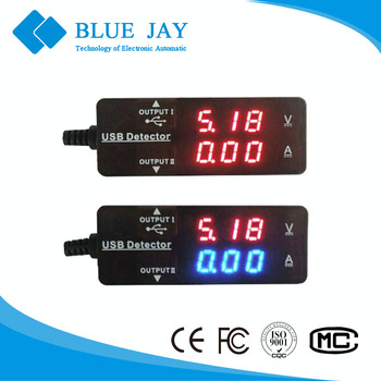 26VA Mobile Phone Current Voltage Detector, USB Current Meter, 3.2V~10V Volt Meter