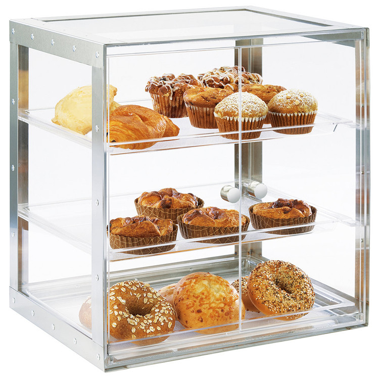 High transparent/wholesale acrylic pastry donut display case