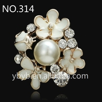 2016 new metal 3d Pearl Applique embellishment rhinestone garment accessories in trimming wholesale