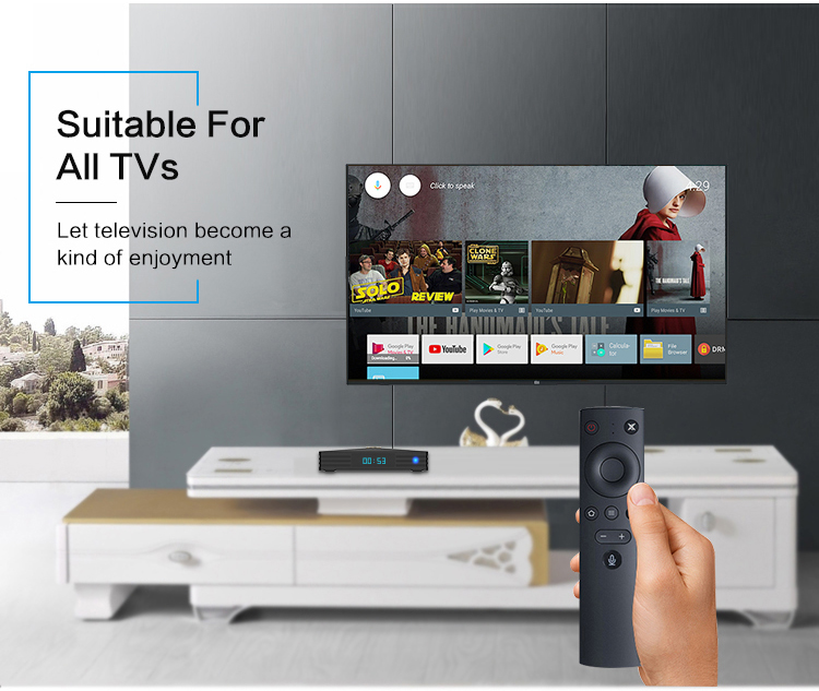 RK3328 Android 9.0 Smart TV Box with all channels YSE 4GB 64GB Wifi 2.4G/5G Support Free Test IPTV