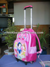 pink beauty trolley school bag