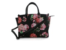 Fashion Floral Design Handbag for Lady Long Single Strap Handle Shoulder Bag