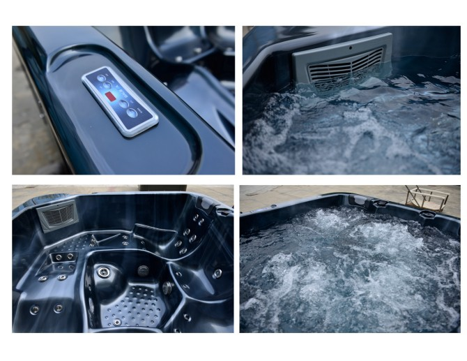 Hot sale freestanding acrylic whirlpool massage spa outdoor 6 person commercial balboa hot tub