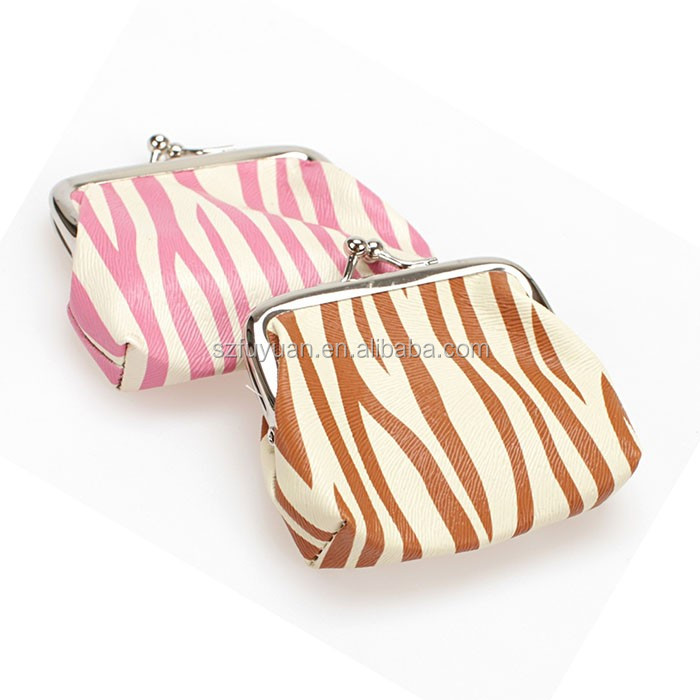zebra print leather coin Purse,mini coin purse,cheap coin purse