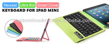Smart cover +bluetooth keyboard case Compatible for IPAD Mini