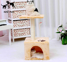 High Quality Kitty Cat Toys, Cat Climb and Scratch Tools, Suitable cat climd tree frame + cat house for Climbing