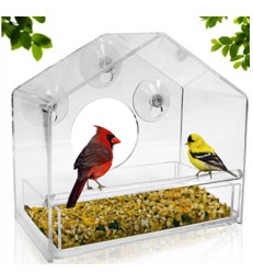 Window Bird Feeder Transparent Suction Cup Feeding Station