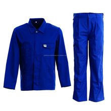 Light Weight Royal Blue Work Clothes Suit Anti-Static Welder Uniform