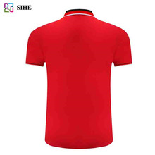 Wholesale Man 100% Polo T-Shirt With Different Color Collar Design