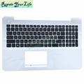 Hot Sale black with white c shell Laptop Keyboard for ASUS X555LD UI language Keyboard 0KN0-R91UI2216025023423